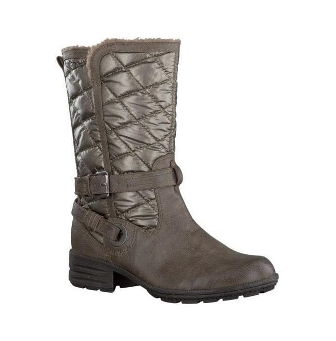 Jana Womens Pepper Quilted Water Repellent Winter Boots 8-26403-21 324