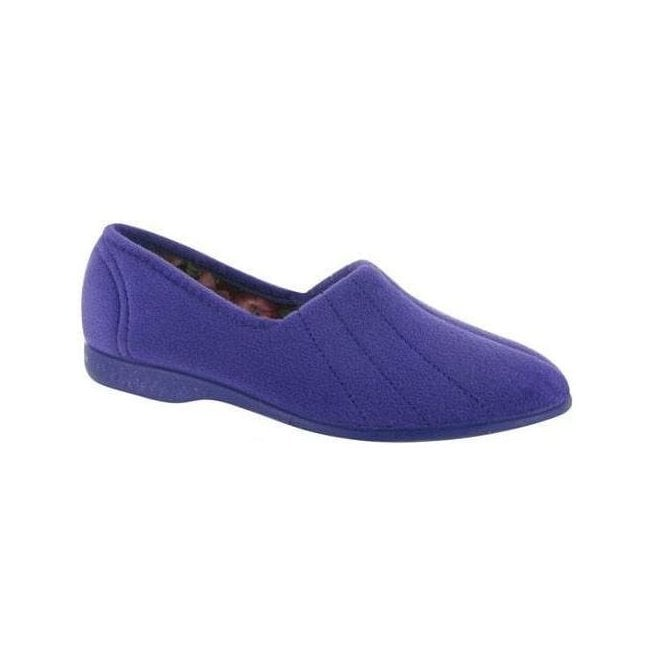GBS Slippers Womens Audrey Lilac Slip On Slippers