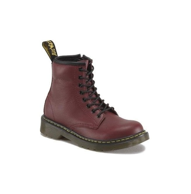 Dr Martens - Kids Delaney Cherry Softy Leather Junior Boots 15382601
