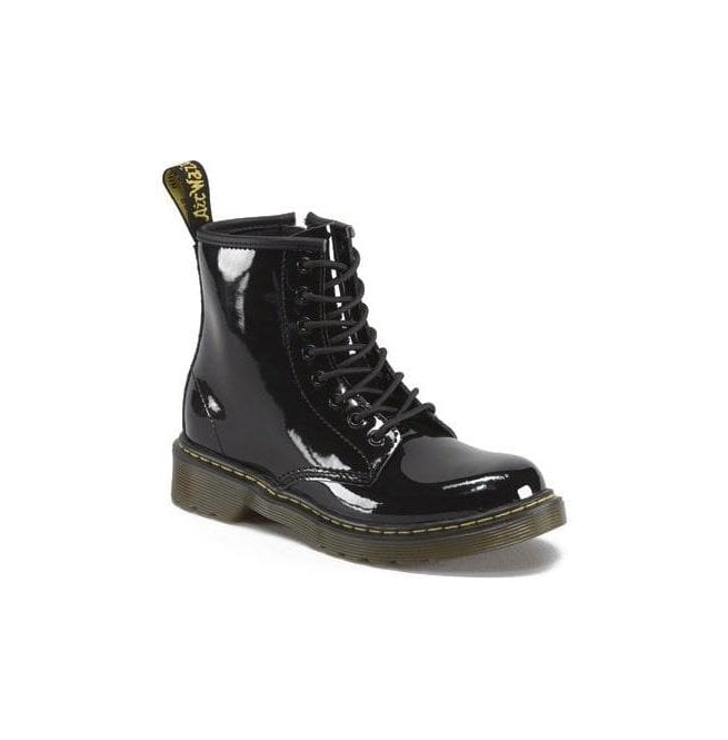 Dr Martens - Kids Delaney Black Patent Leather Junior Boots 15382003