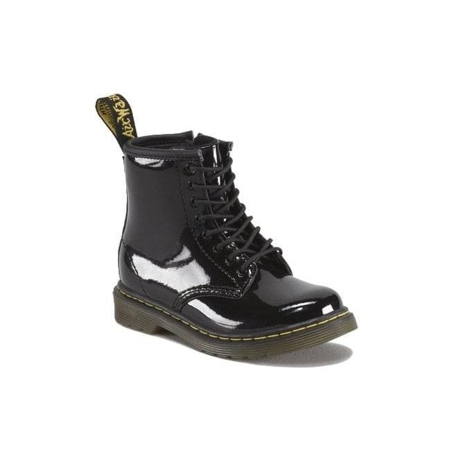 Dr Martens - Kids Brooklee Black Patent Leather Kids Boots 15373003