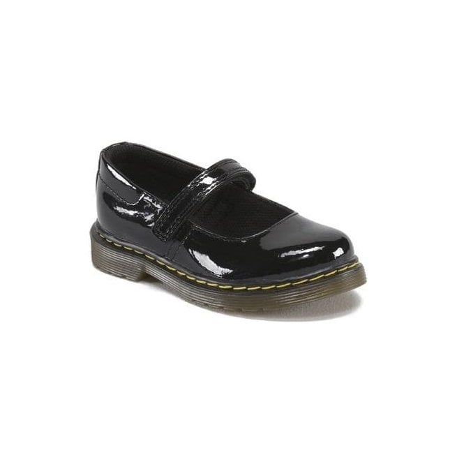 Dr Martens - Kids Core Tully Black Patent Mary Jane Shoes 15654002