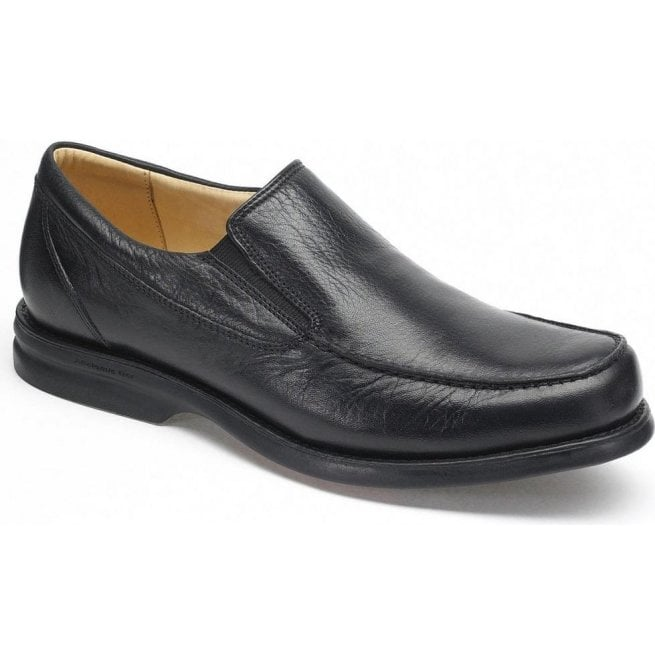 Anatomic Gel Mens Bernardo Black Leather Slip On Shoes