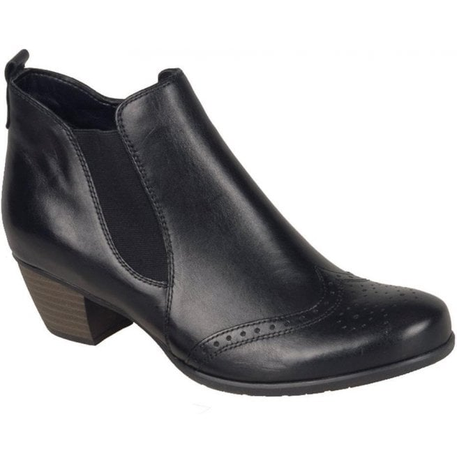 Remonte Womens Cristallin Black Heeled Ankle Boots R9187-01