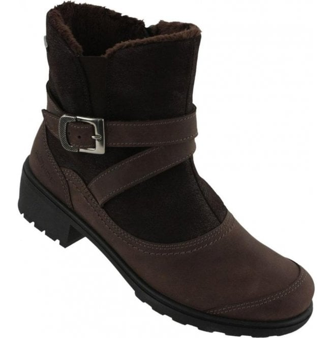 Rohde Womens Brown Waterproof Buckle Strap Ankle Boots 2960 71