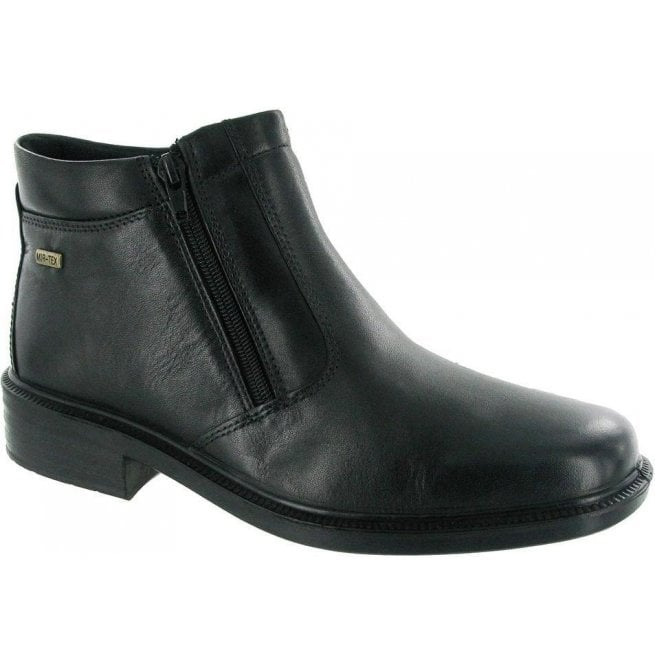 Cotswold Mens Kelmscott Black Zip Ankle Boots