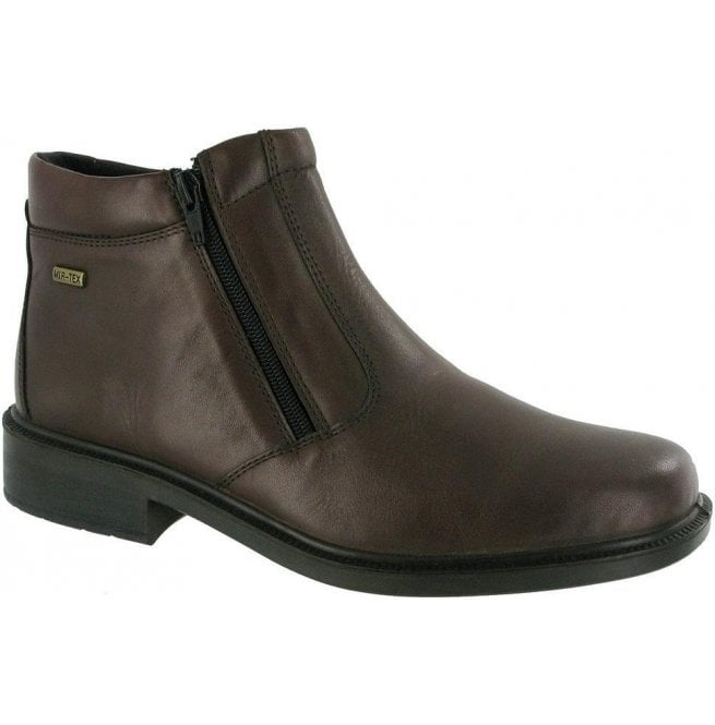 Cotswold Mens Kelmscott Brown Zip Ankle Boots