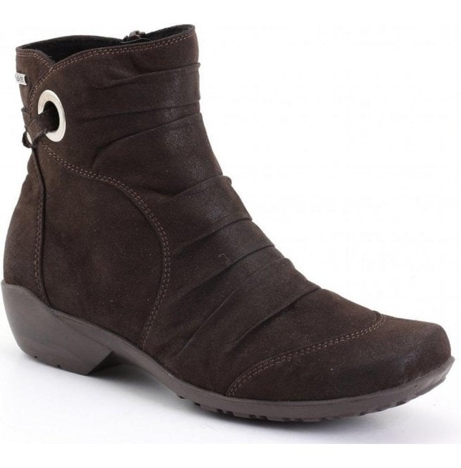 Romika Womens Citytex 121 Moro Brown Waxy Ankle Boots