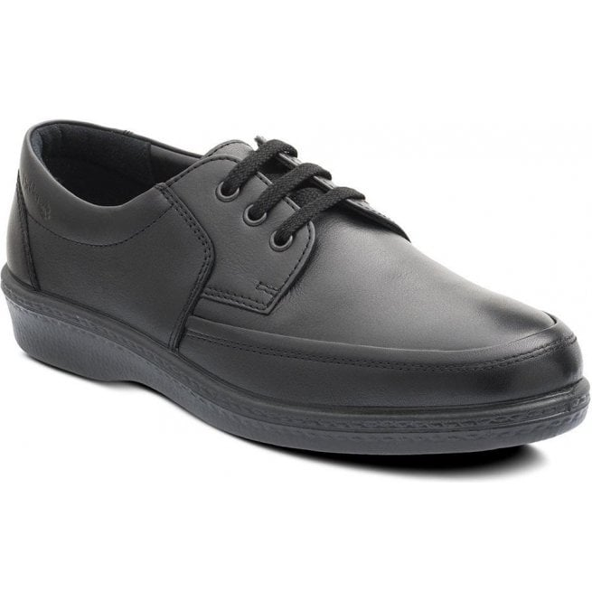 Padders Mens Dash Black Lace Up Shoes