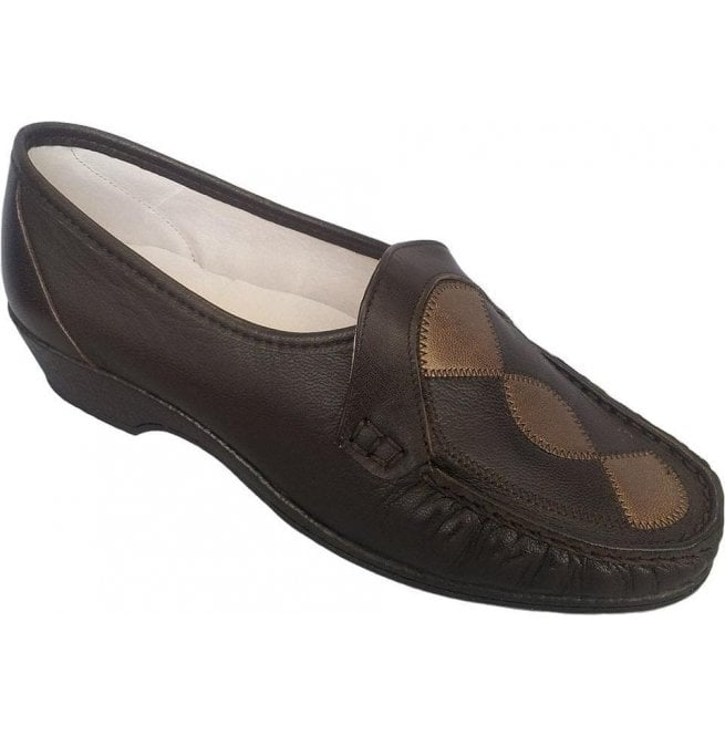 Sandpiper Womens Ivy Brown/Copper Slip On Shoes