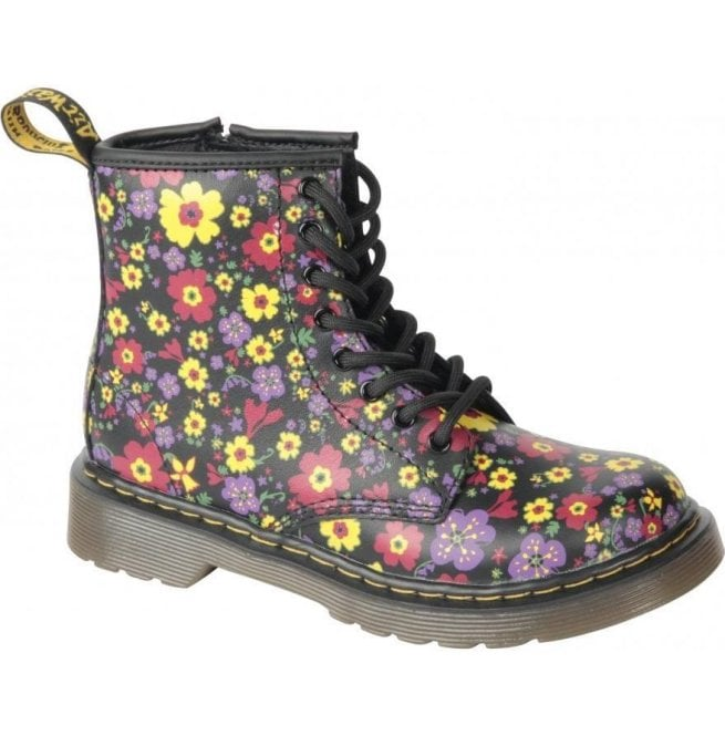 Dr Martens - Kids Delaney Black Vintage Garden Junior Softy T 15382006