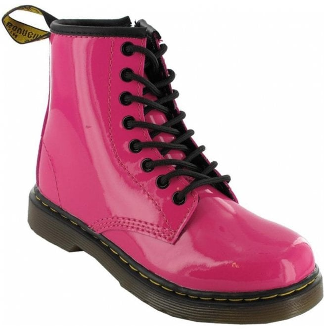 Dr Martens - Kids Brooklee Pink Patent Leather Kids Boots 15373670