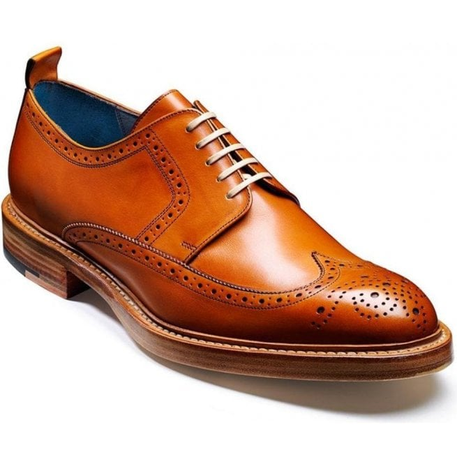 Barker Mens Bailey Cedar Brogue Lace-Up Shoes