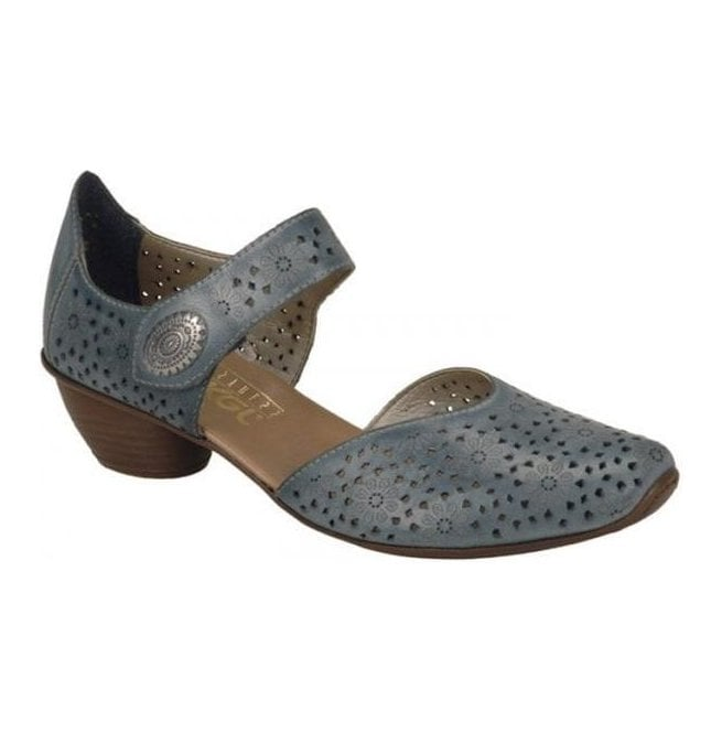 Rieker - Womens Crease Denim Casual Mary Jane Shoes 43711-12