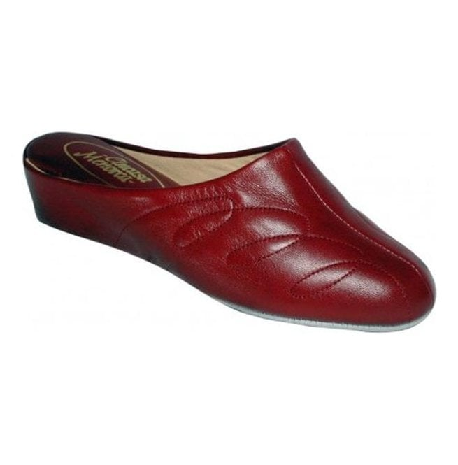 Cincasa Menorca Womens Mahon Red Leather Slippers