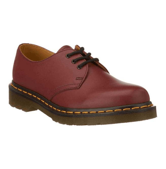 Dr Martens Unisex 1461 3-Eye Cherry Red Shoes 11838600