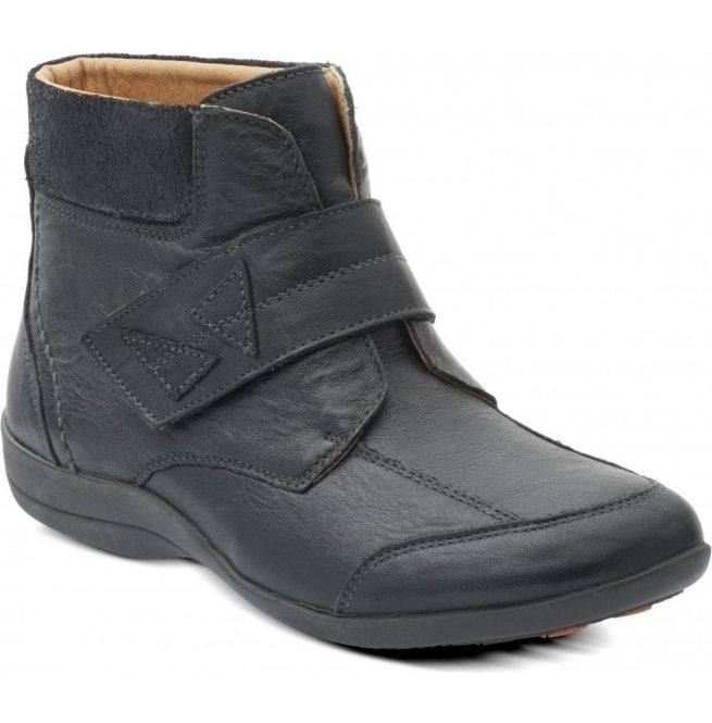 Padders Womens Ivy Black/Combi Velcro Boots