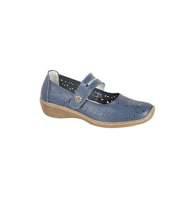 Boulevard Womens Blue Touch Fastening Bar Shoes L394C