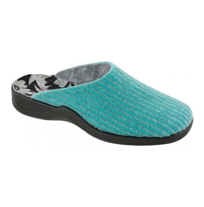 Rohde Womens Turquoise Washable Mule Slippers 7711 53