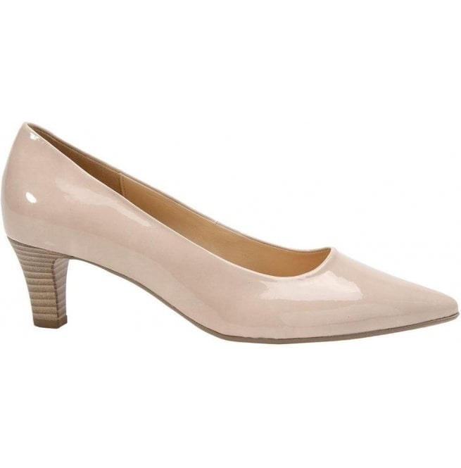 Gabor Womens Arnica 2 Sand Heeled Court Shoes 41.250.72