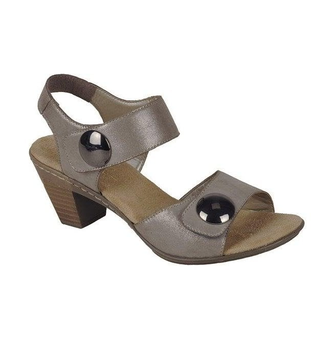 Rieker - Womens Avarua Grey Strap Over Sandals 67369-42