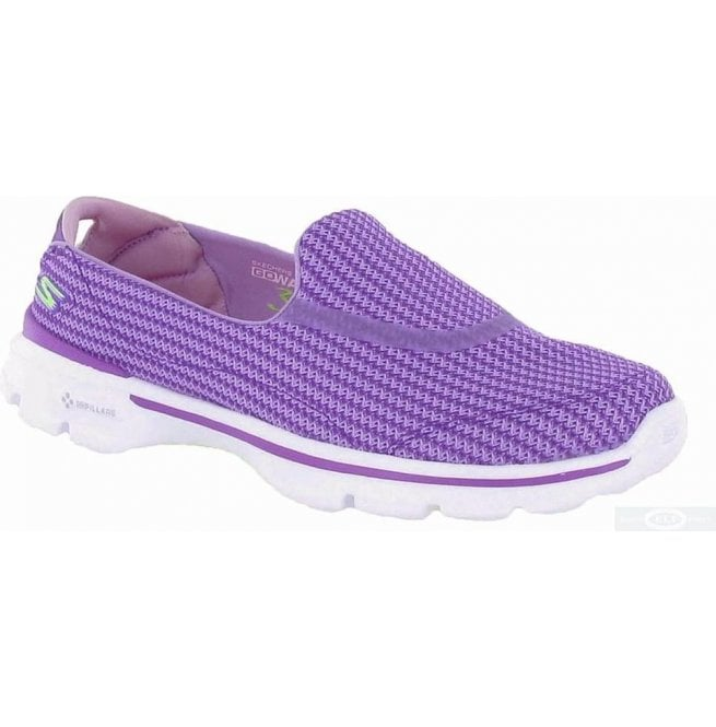 Skechers Womens Go Walk 3 Purple Walking Shoes 13980