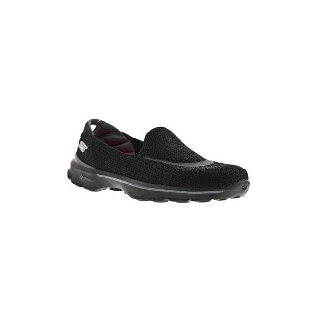Skechers Womens Go Walk 3 Black Walking Shoes 13980