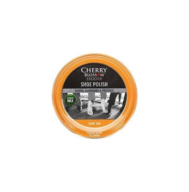 Cherry Blossom Light Tan Premium Paste Shoe Polish