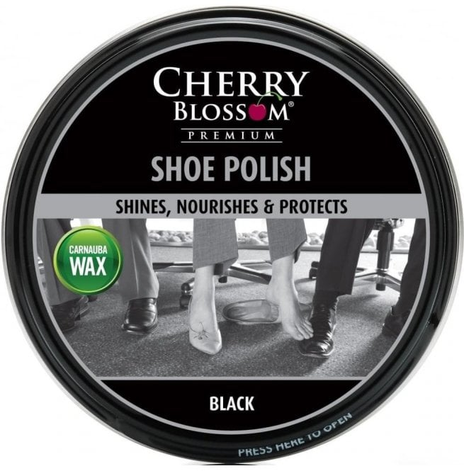 Cherry Blossom Black Premium Paste Shoe Polish