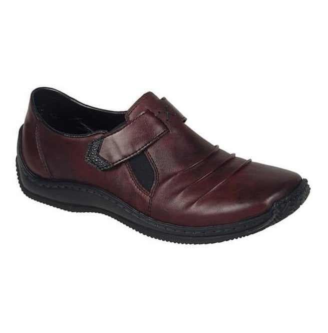 Rieker Womens Cristallin Burgundy Slip On Casual Shoes L1763-35