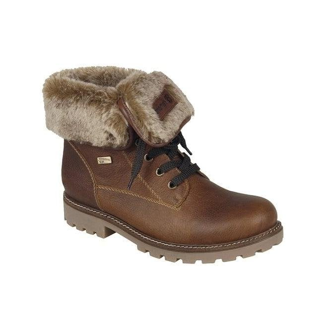Remonte Womens Pure Brown Two-Way Waterproof Boots D7474-24