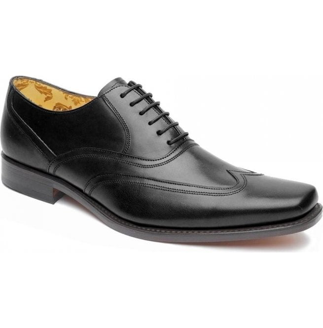 Loake Mens Snipes Black Leather Lace Up Shoes