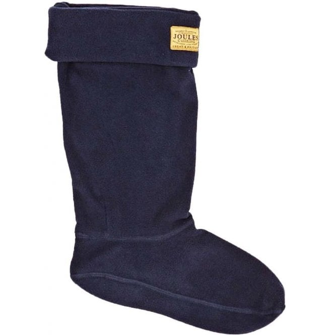 Joules Welton Navy Fleece Welly Socks