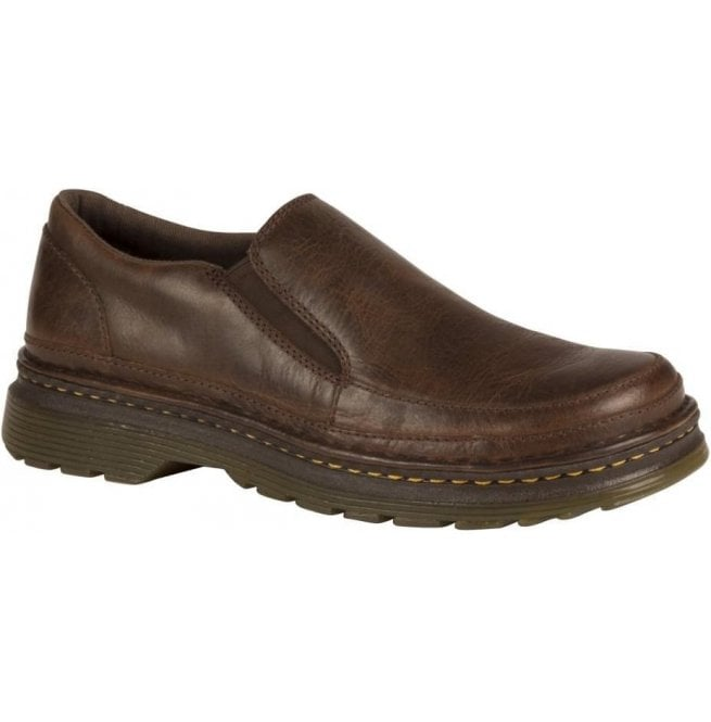 Dr Martens Mens Hickmire Brown Leather Slip On Shoes 21798203