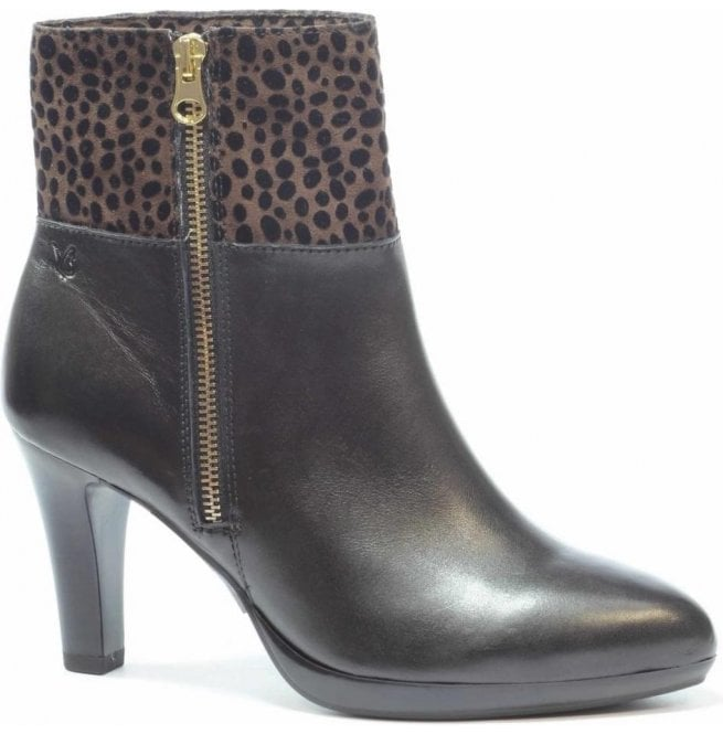 Caprice Womens Ashley Black Multi Ankle Boots 9-9-25340-27 011