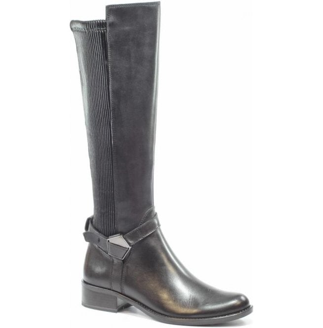 Caprice Womens Kania Black Combi High Leg Boots 9-25535-27 019