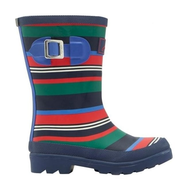 Joules Boys Junior Multi-Coloured Stripped Welly