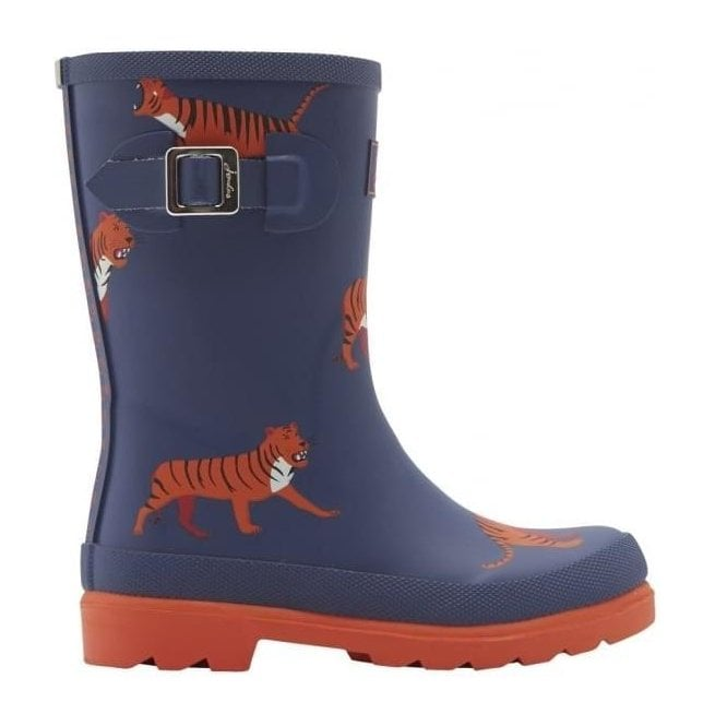 Joules Boys Junior Navy Tiger Welly