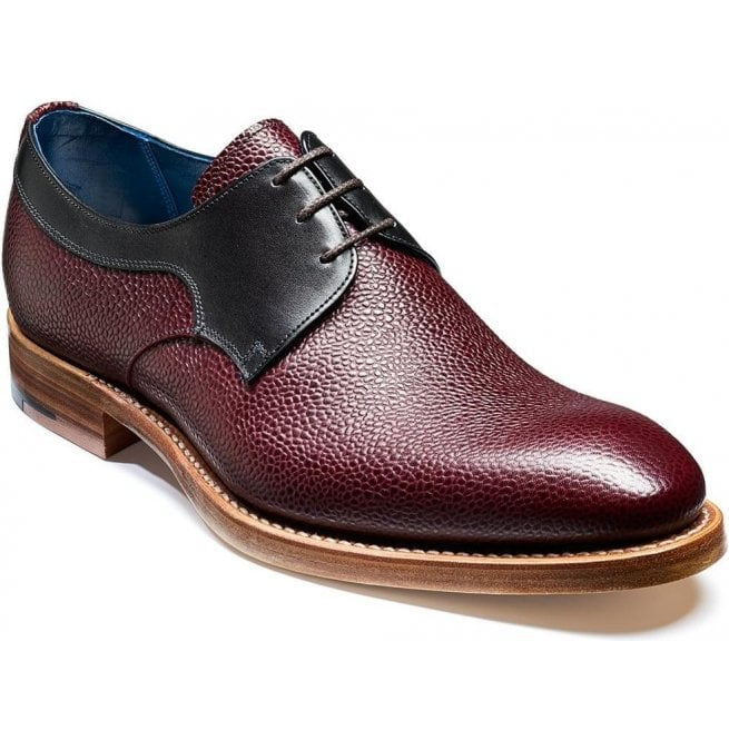 Barker Mens Benedict Burgundy Grain/Black Calf Lace Up Shoes