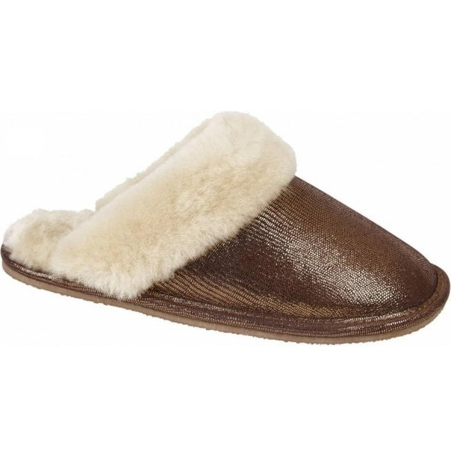 Drapers Womens Lilly Copper Mule Type Slipper