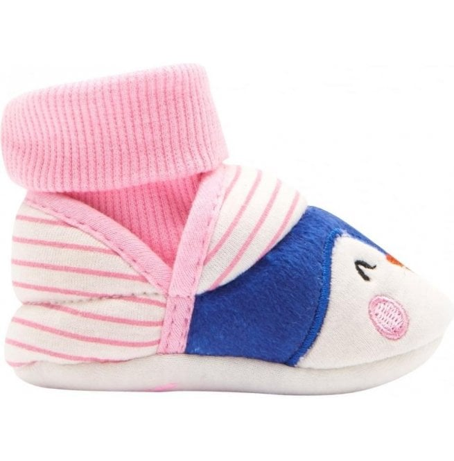 Joules Baby Girls Penguin Nipper Slippers