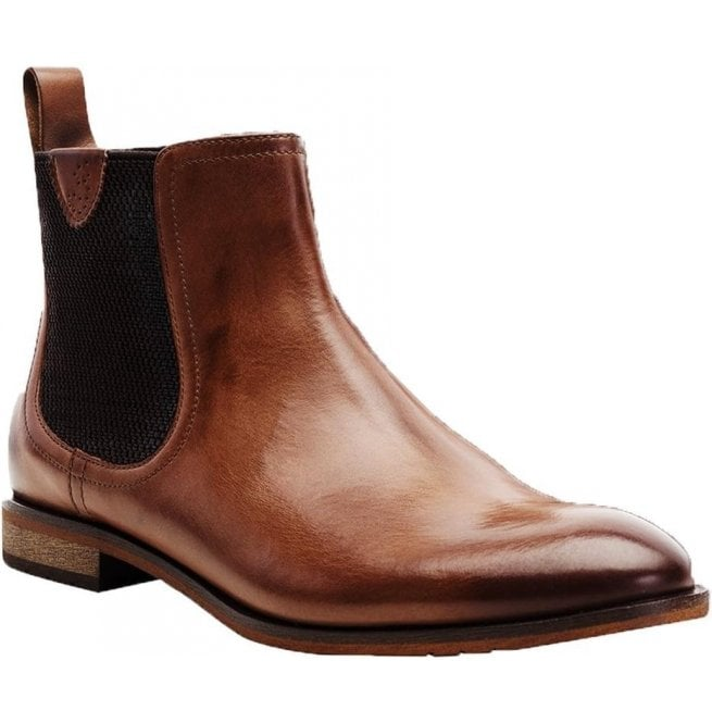 Goodwin Smith Mens Hurstwood Brown Classic Chelsea Boots