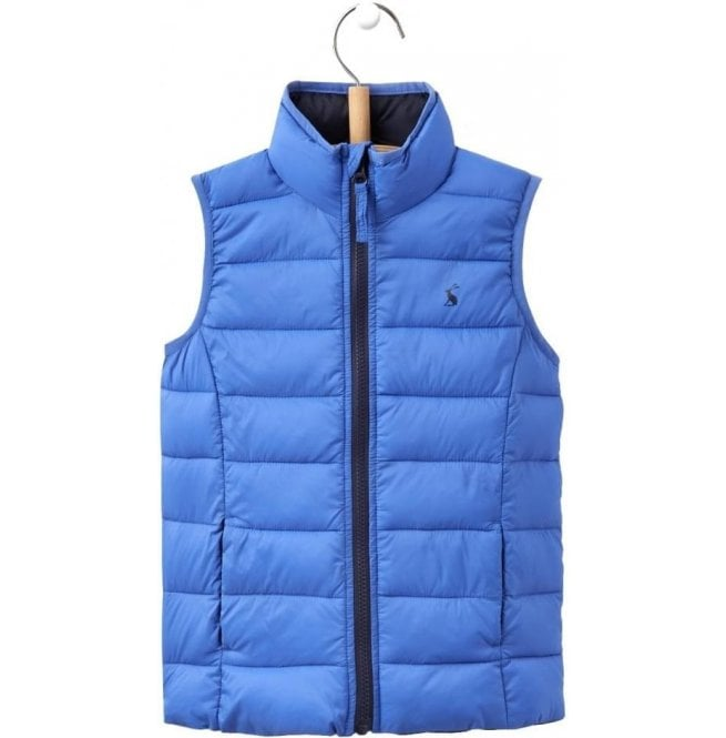 Joules Junior Crofton Dazzling Blue Pack Away Gilet