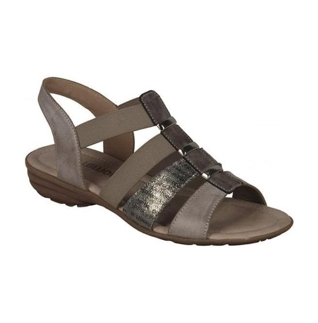 Remonte Womens Serbia Taupe Sling Back Sandals R3644-25
