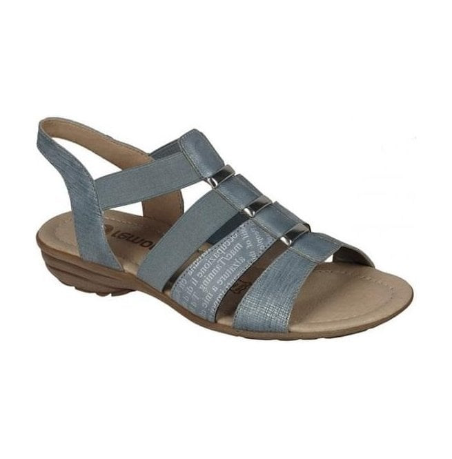 Remonte Womens Serbia Blue Sling Back Sandals R3644-10