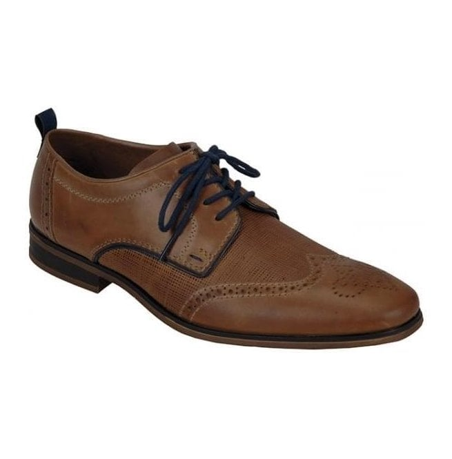 Rieker - Mens Ramon Brown Leather Lace Up Formal Shoes 10612-25