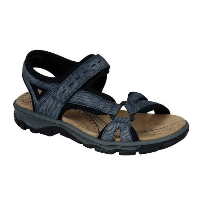 Rieker - Womens Chios Blue Strap Over Sandals 68879-14