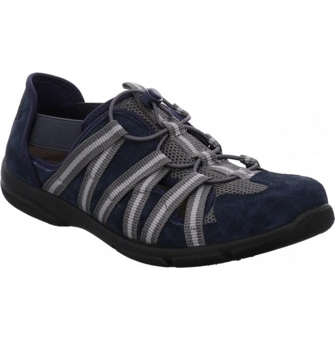 Romika Womens Traveler 01 Jeans Navy/Grey Elasticated Trainers 17201 32 506