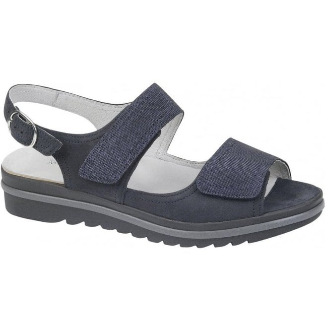 Waldlaufer Womens Hakura Blue Velcro Sandals 351002 200 200