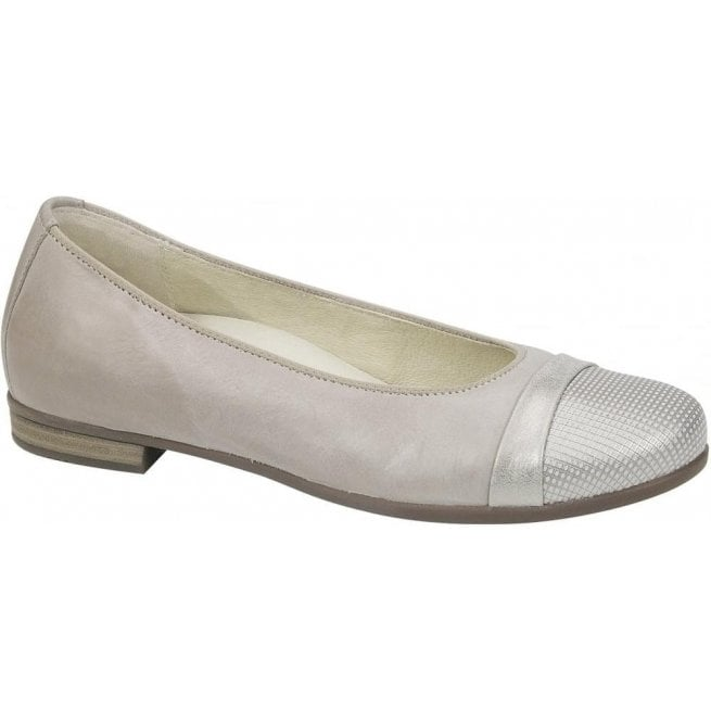 Waldlaufer Womens Hamiki Astra Stone Leather Slip On Shoes 328004 328 070